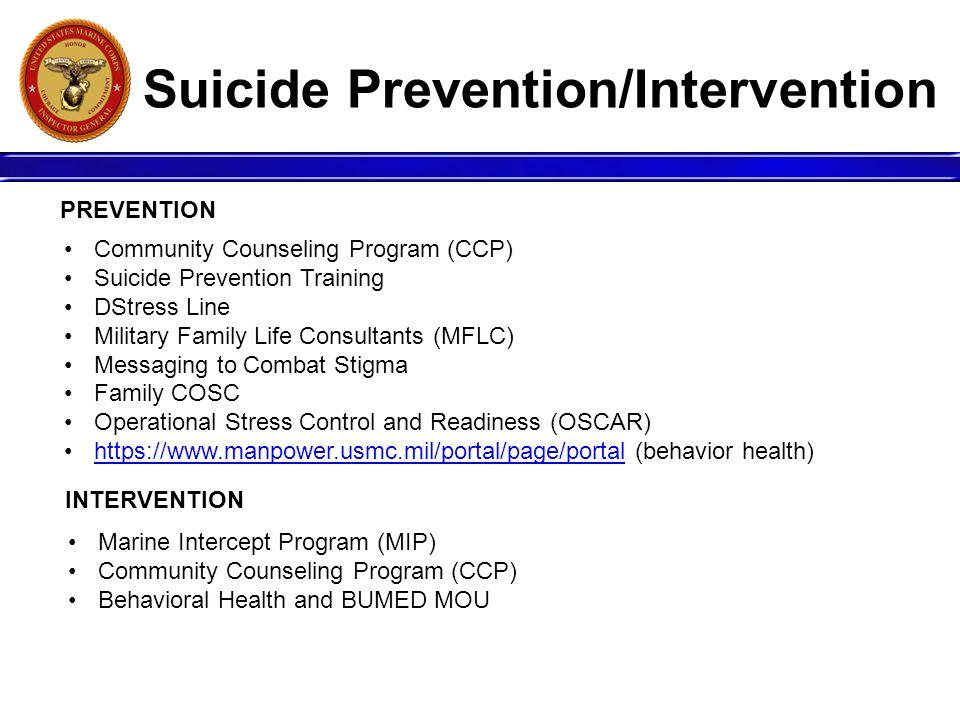 Suicide Prevention/Intervention