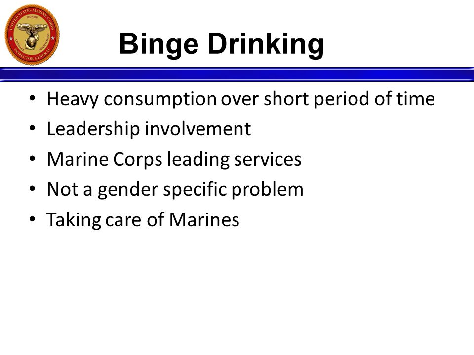 Binge Drinking Heavy consumption over short period of time