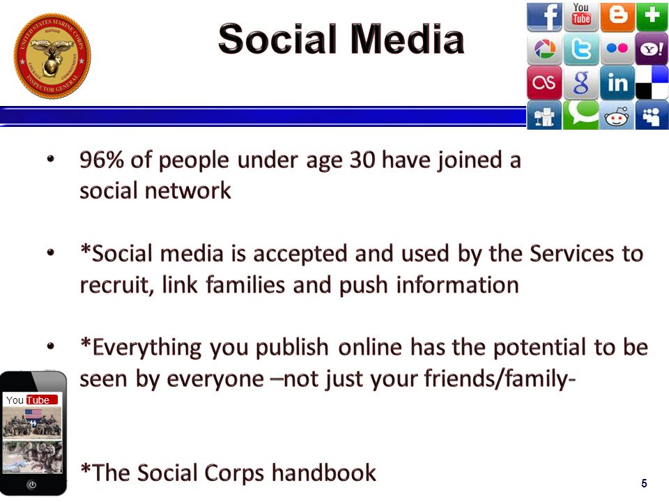 Social Media 96% of people under age 30 have joined a social network