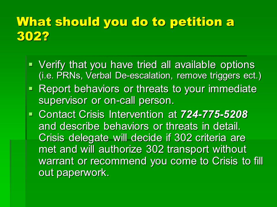 What should you do to petition a 302
