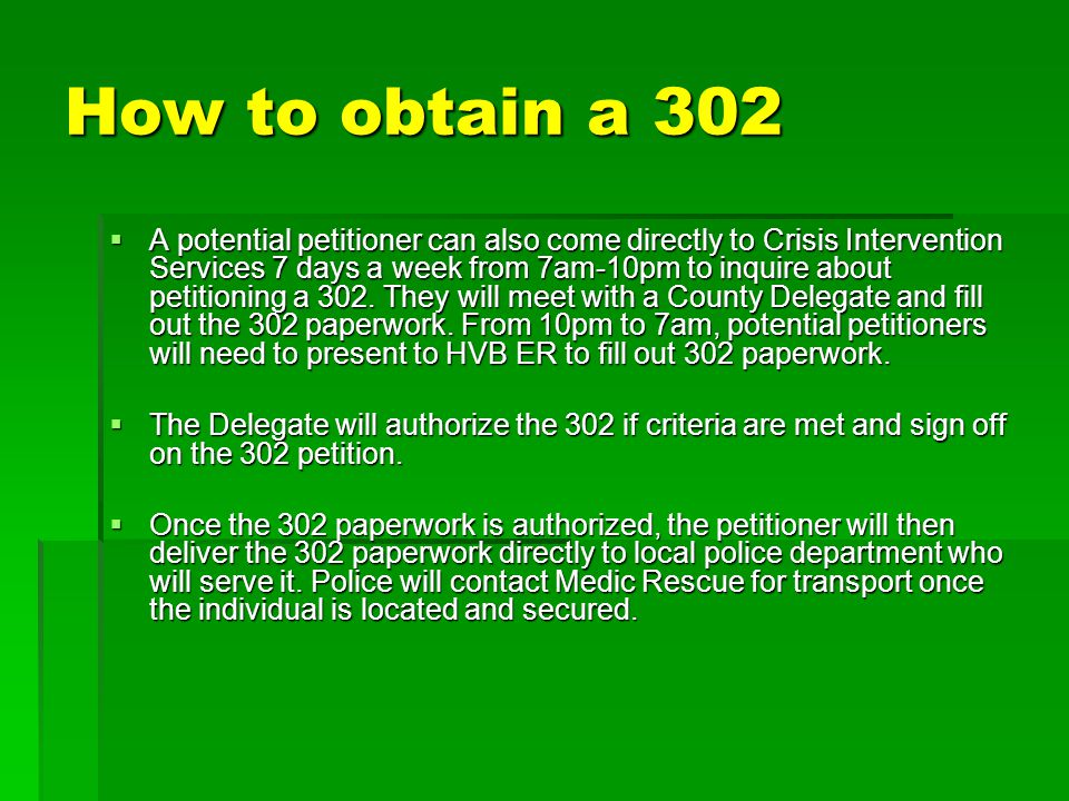 How to obtain a 302
