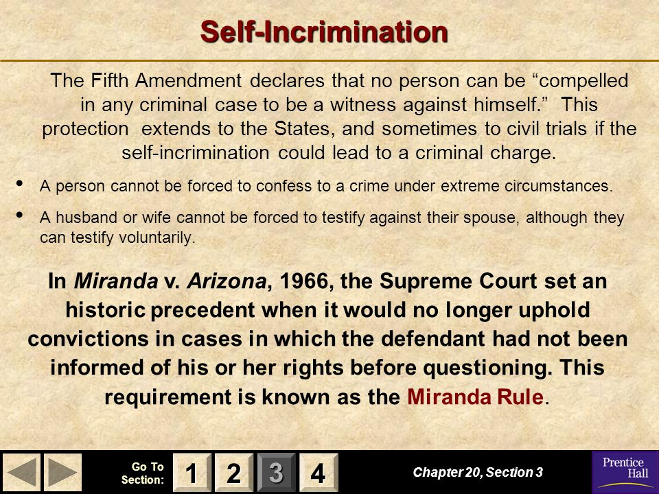 pre trial confession and right against self incrimination The pre-trial operation of the privilege against self-incrimination was further buttressed by the decision in ibrahim v r [1914] ac 599 that an admission or confession made by the accused to the police would only be admissible in evidence if the prosecution could establish that it had been voluntary an admission or confession is only voluntary .