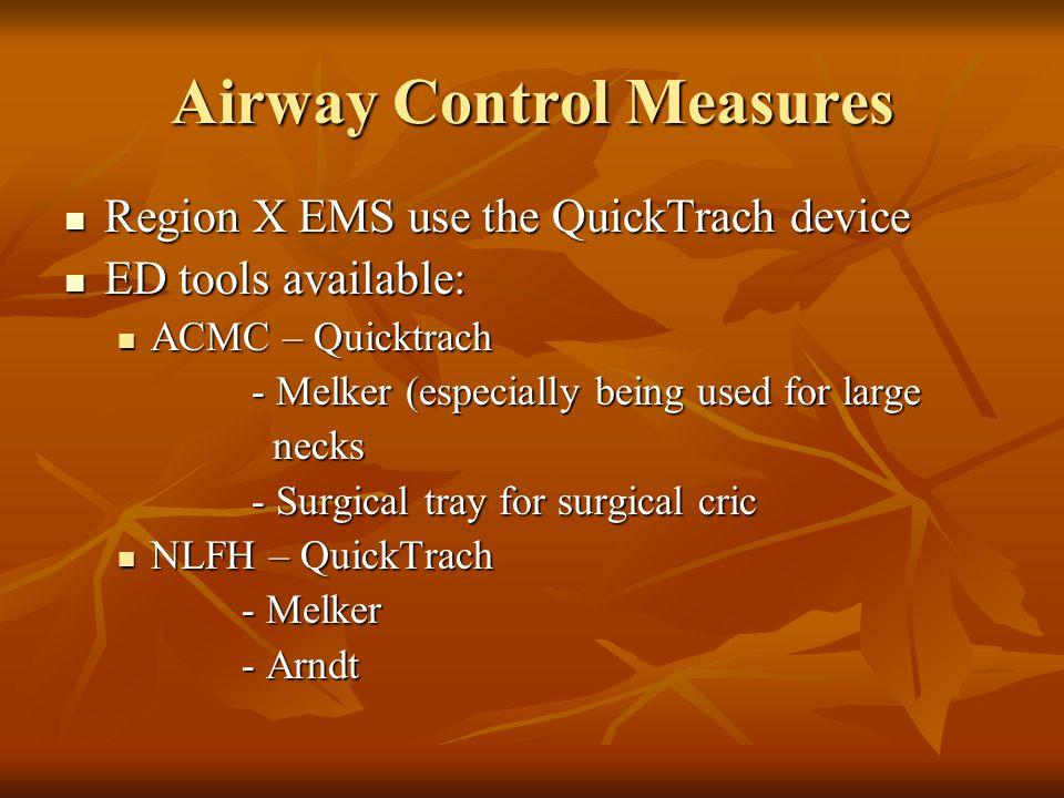 Airway Control Measures