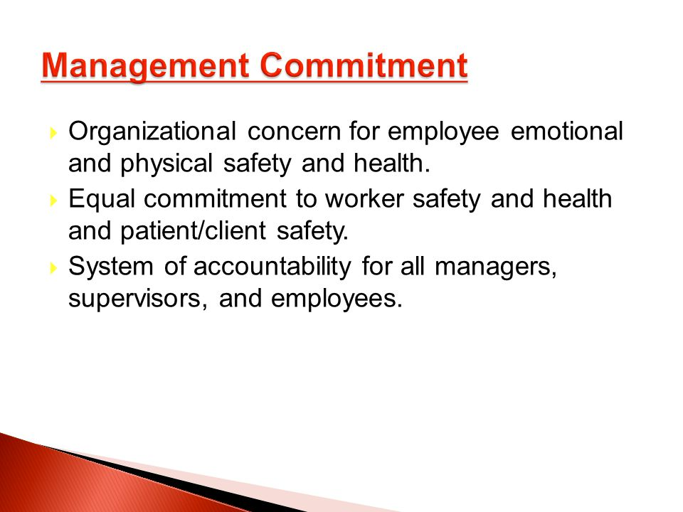 Organizational concern for employee emotional and physical safety and health.