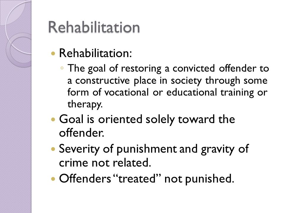 is rehabilitation of felony offenders possible Why help offenders arguments for rehabilitation as a penal strategy peter raynor the rehabilitation of offenders can be defined and understood in a number of different ways of the criminal class.