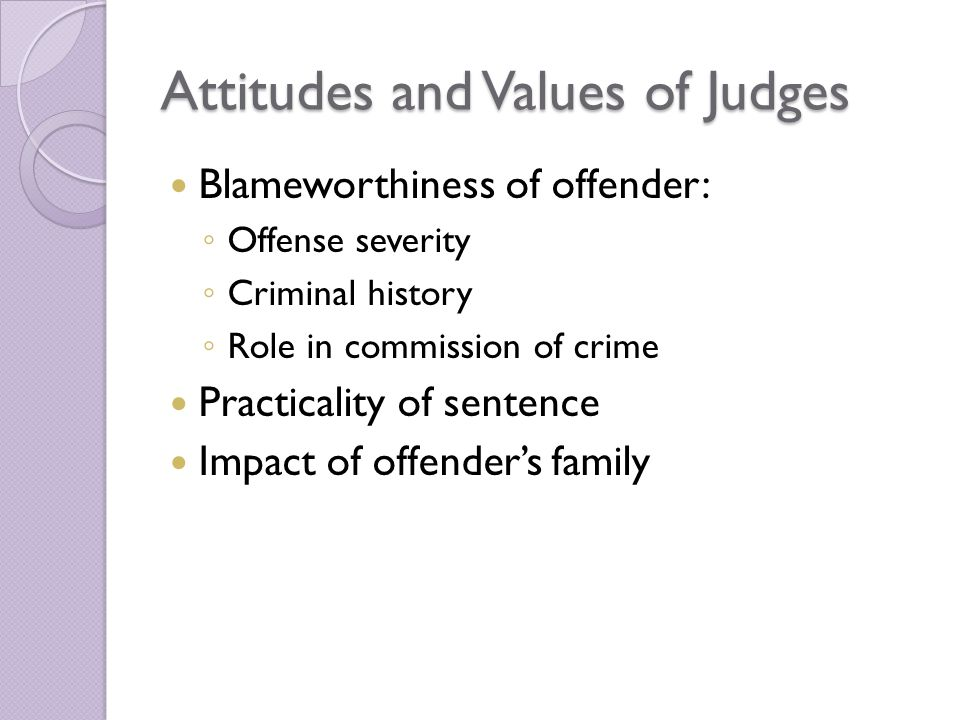Attitudes and Values of Judges