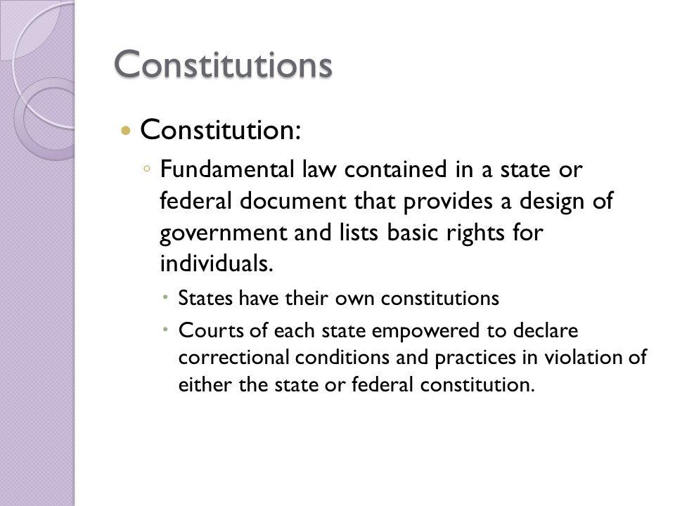 Constitutions Constitution: