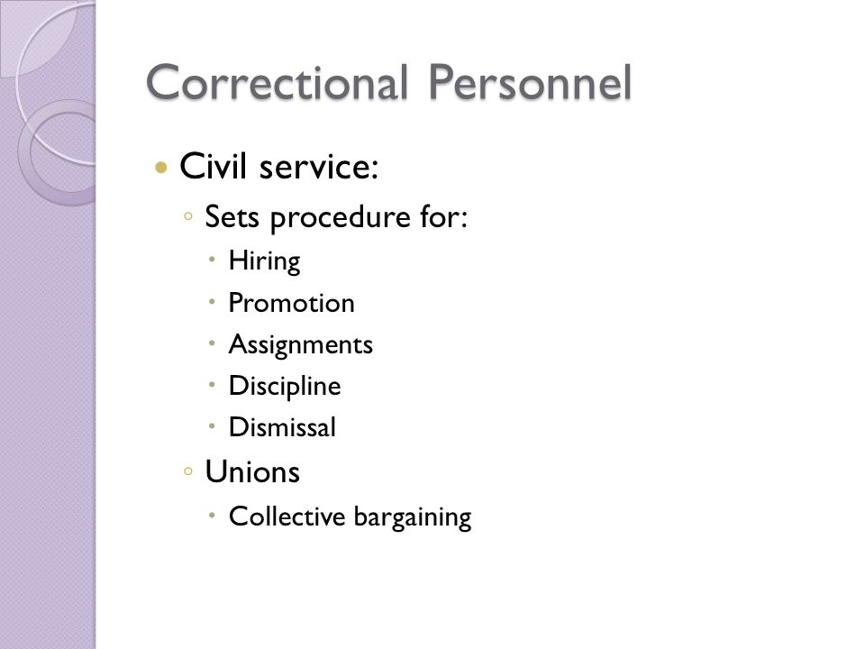 Correctional Personnel