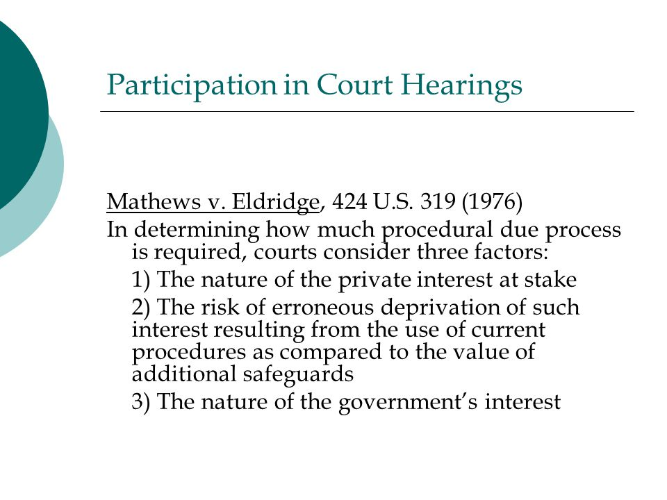 Participation in Court Hearings