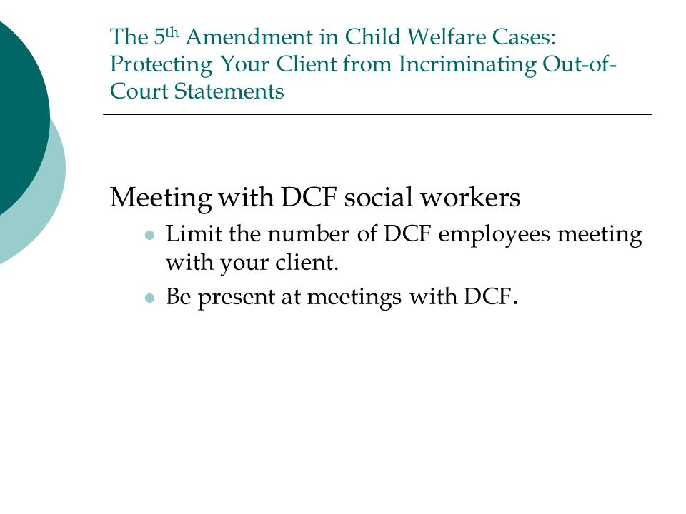 Meeting with DCF social workers