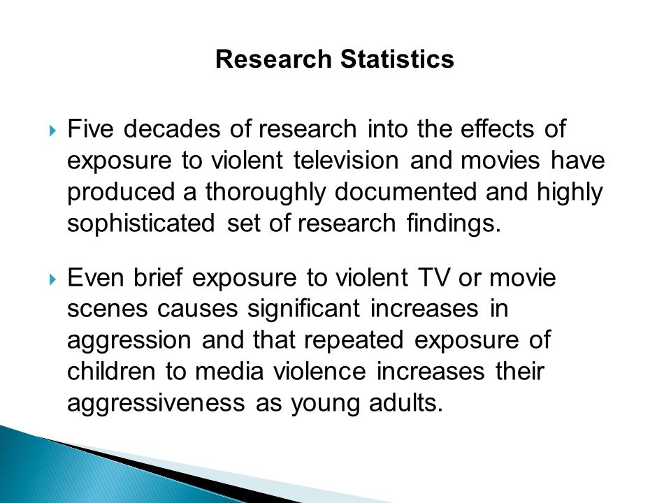 the effects of exposure to violence in media However, many of the effects of media exposure occur over the long term,  the effects of media violence on the development of antisocial behavior.
