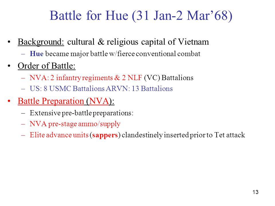 Battle for Hue (31 Jan-2 Mar'68)
