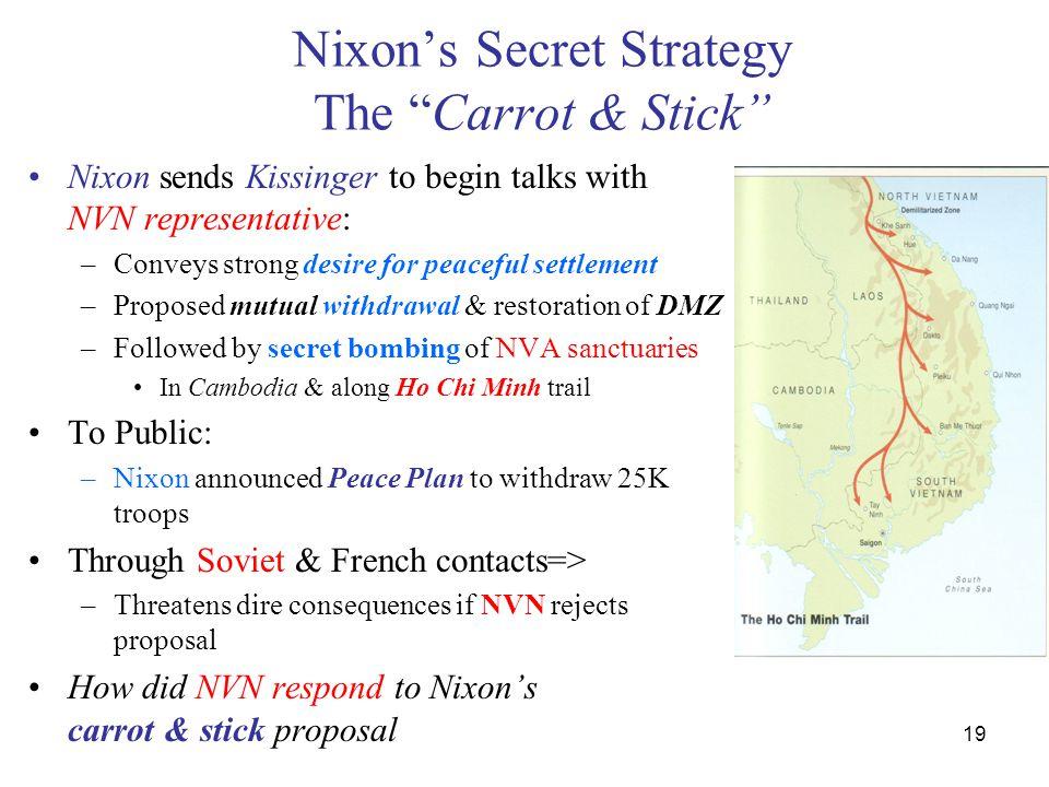 Nixon's Secret Strategy The Carrot & Stick