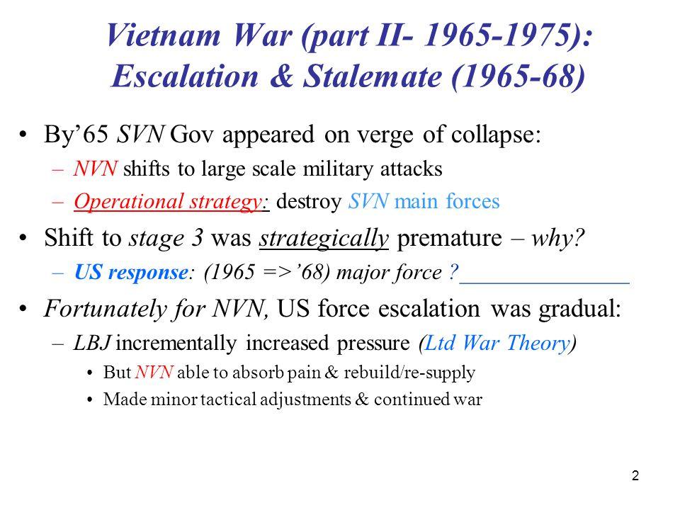 Vietnam War (part II- 1965-1975): Escalation & Stalemate (1965-68)