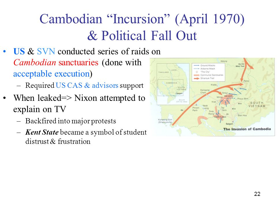 Cambodian Incursion (April 1970) & Political Fall Out