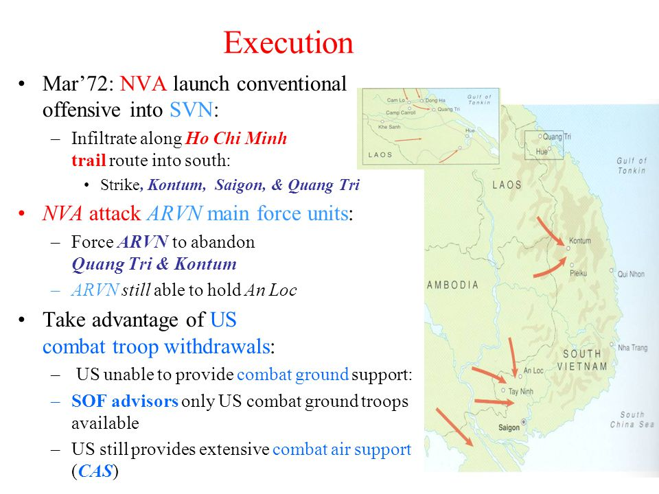 Execution Mar'72: NVA launch conventional offensive into SVN: