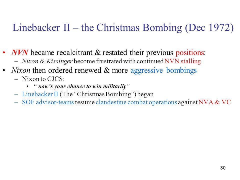 Linebacker II – the Christmas Bombing (Dec 1972)