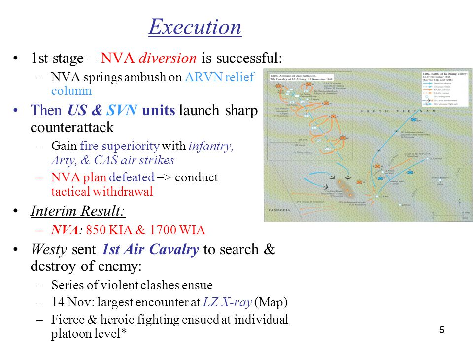 Execution 1st stage – NVA diversion is successful: