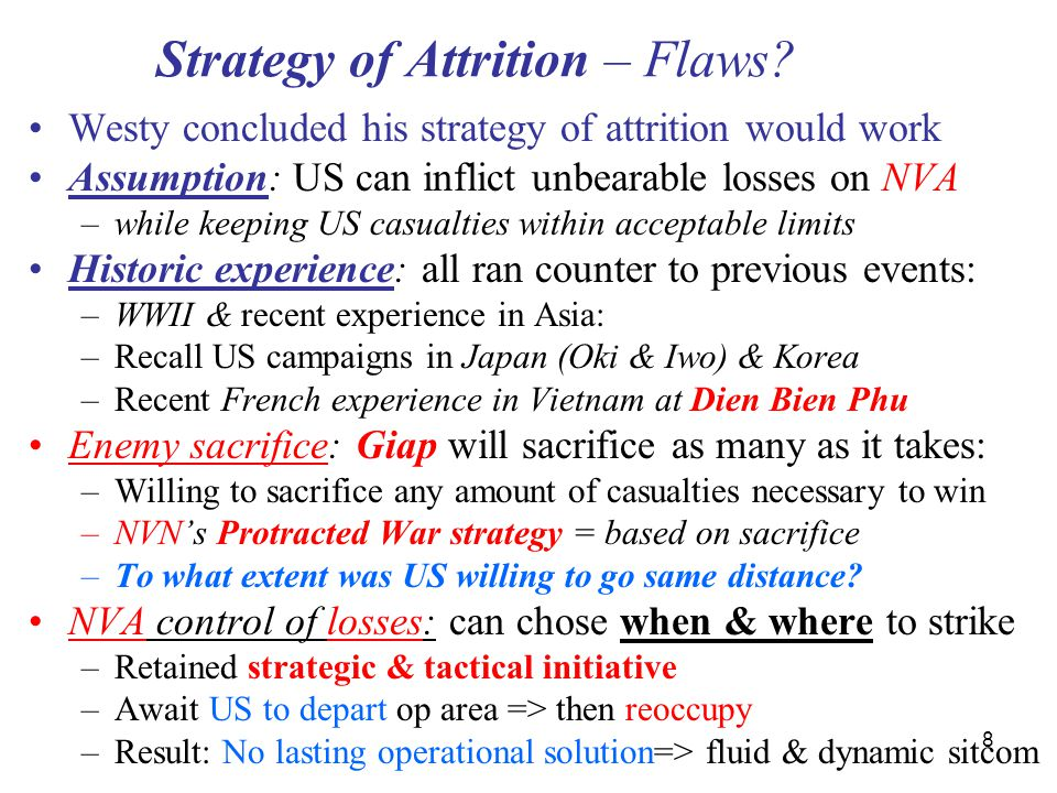 Strategy of Attrition – Flaws