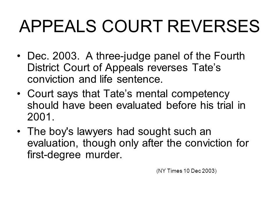 APPEALS COURT REVERSES