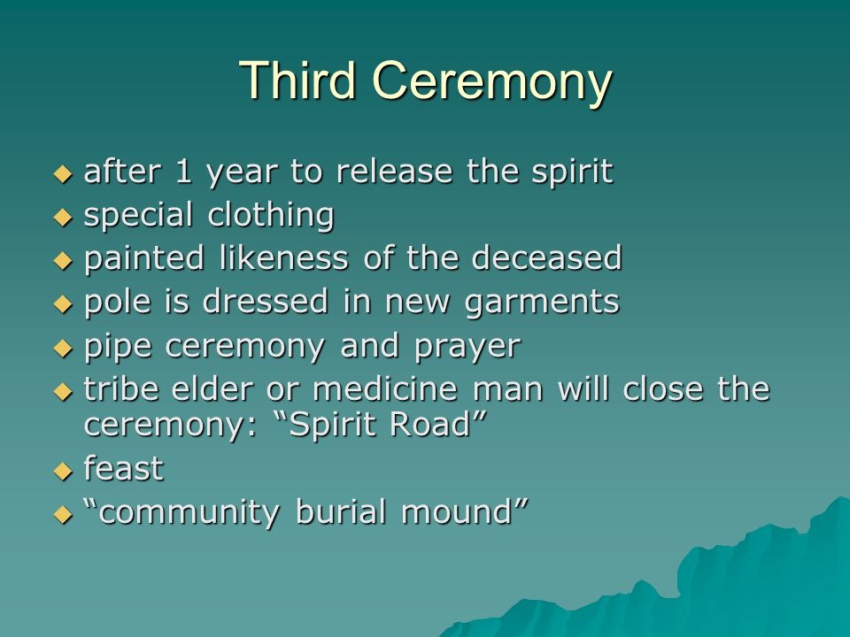 Third Ceremony after 1 year to release the spirit special clothing