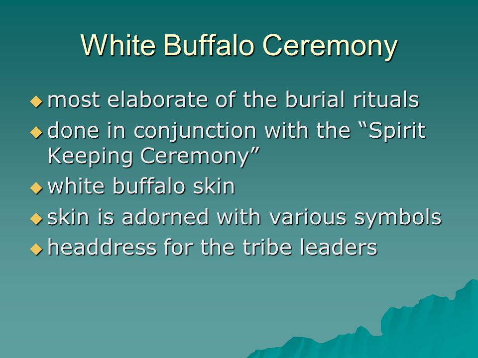 White Buffalo Ceremony