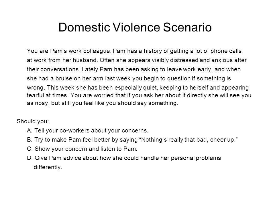 Domestic Violence Scenario