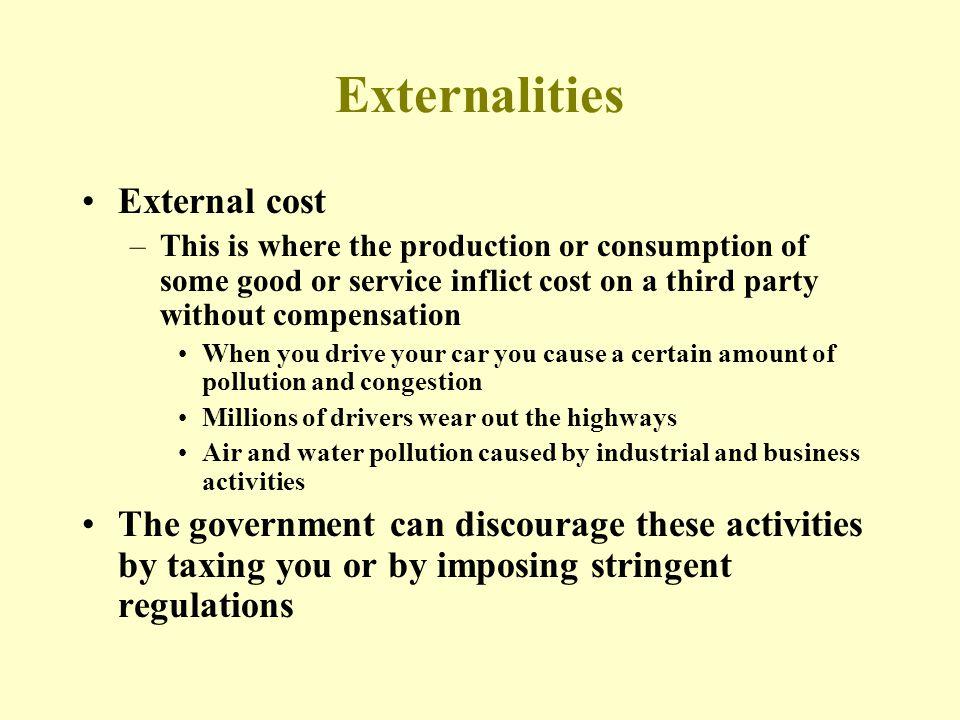 Externalities External cost