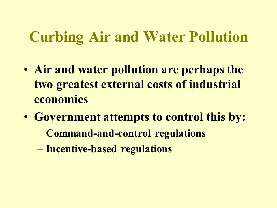 Curbing Air and Water Pollution