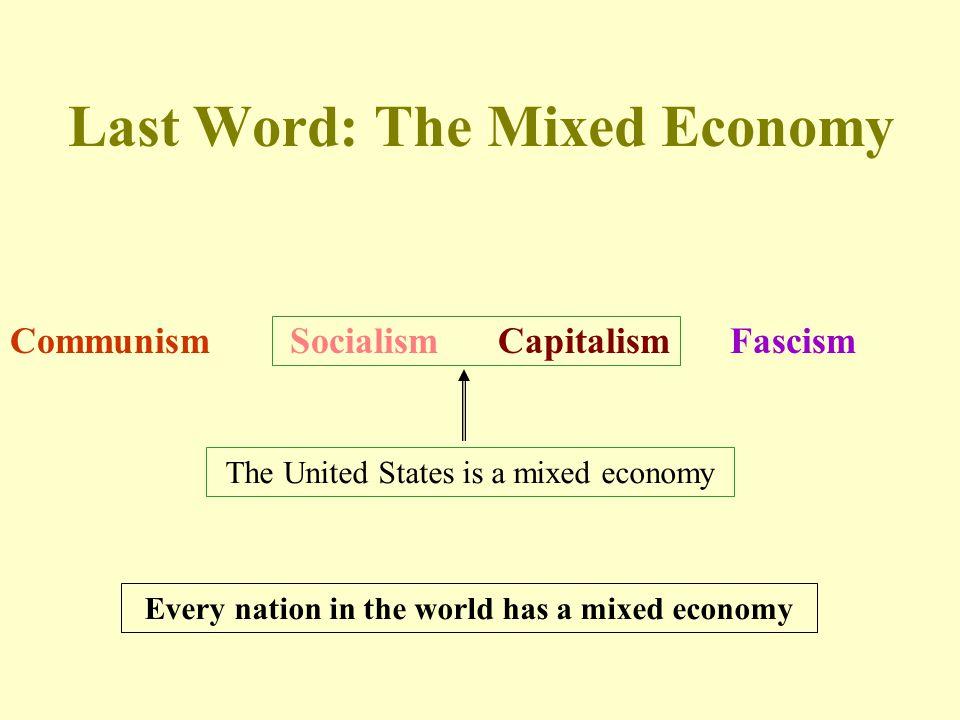 Last Word: The Mixed Economy