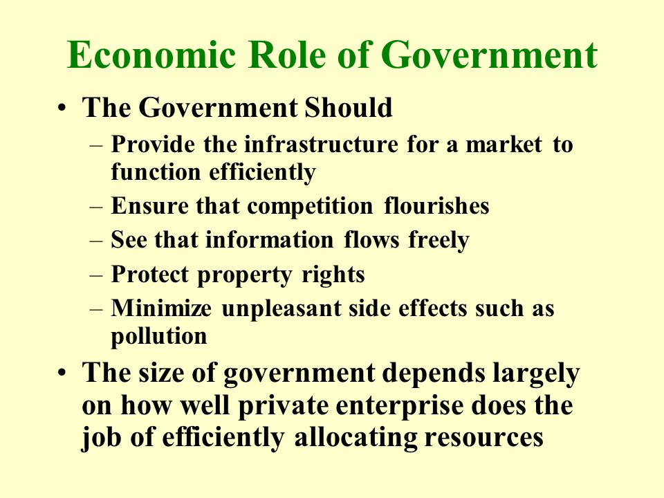 Economic Role of Government