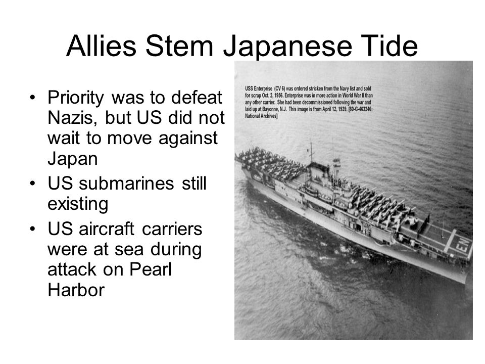 Allies Stem Japanese Tide
