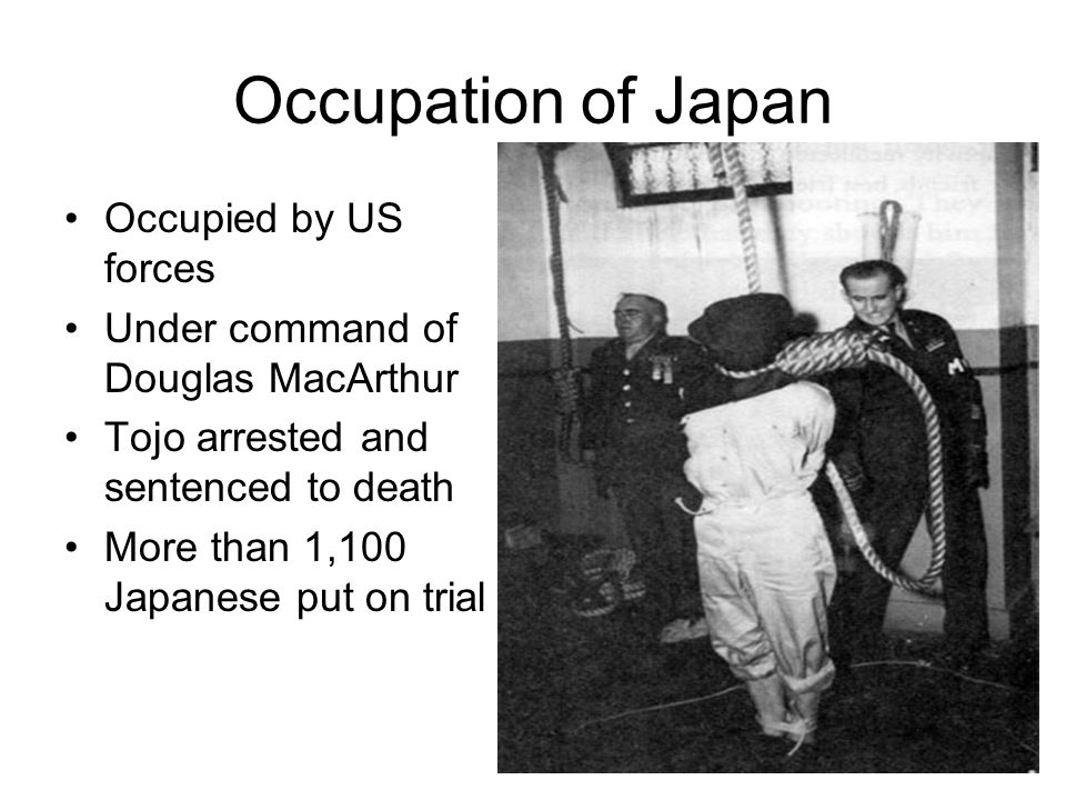 Occupation of Japan Occupied by US forces