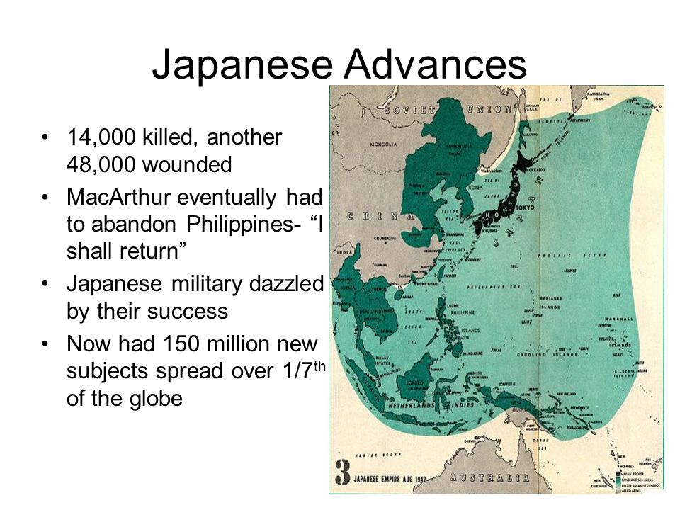 Japanese Advances 14,000 killed, another 48,000 wounded