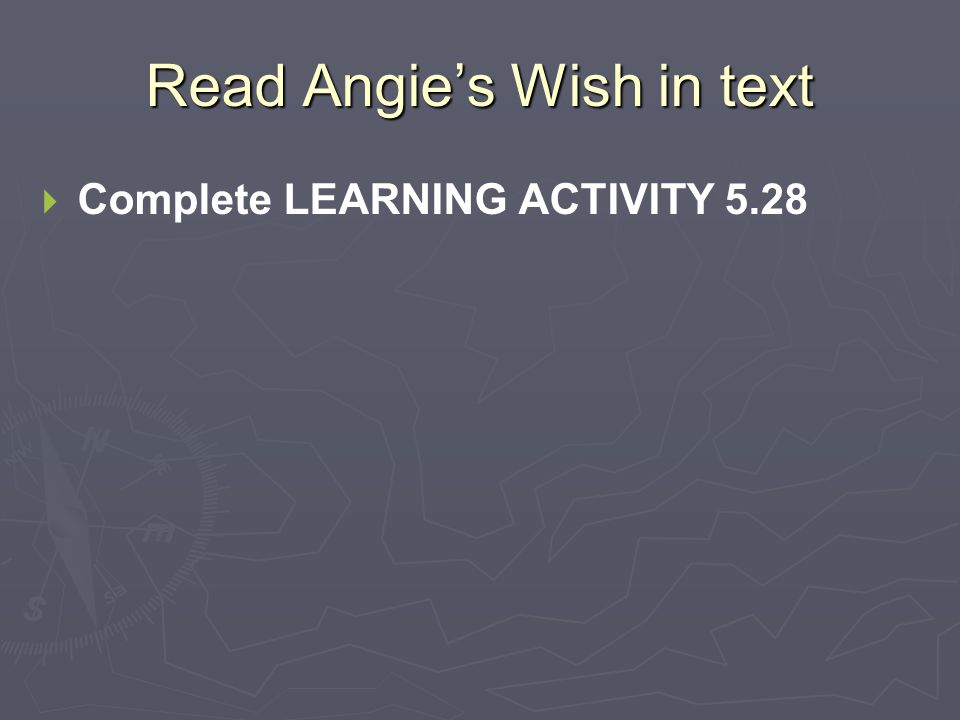 Read Angie's Wish in text