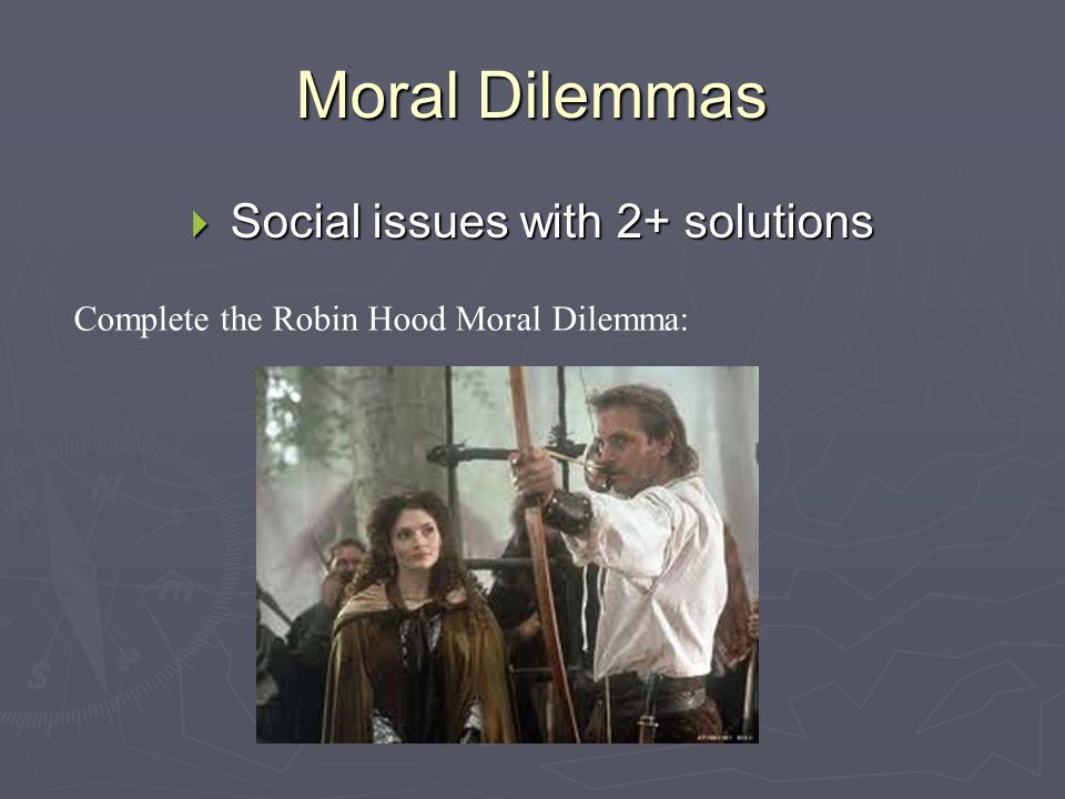 Social issues with 2+ solutions