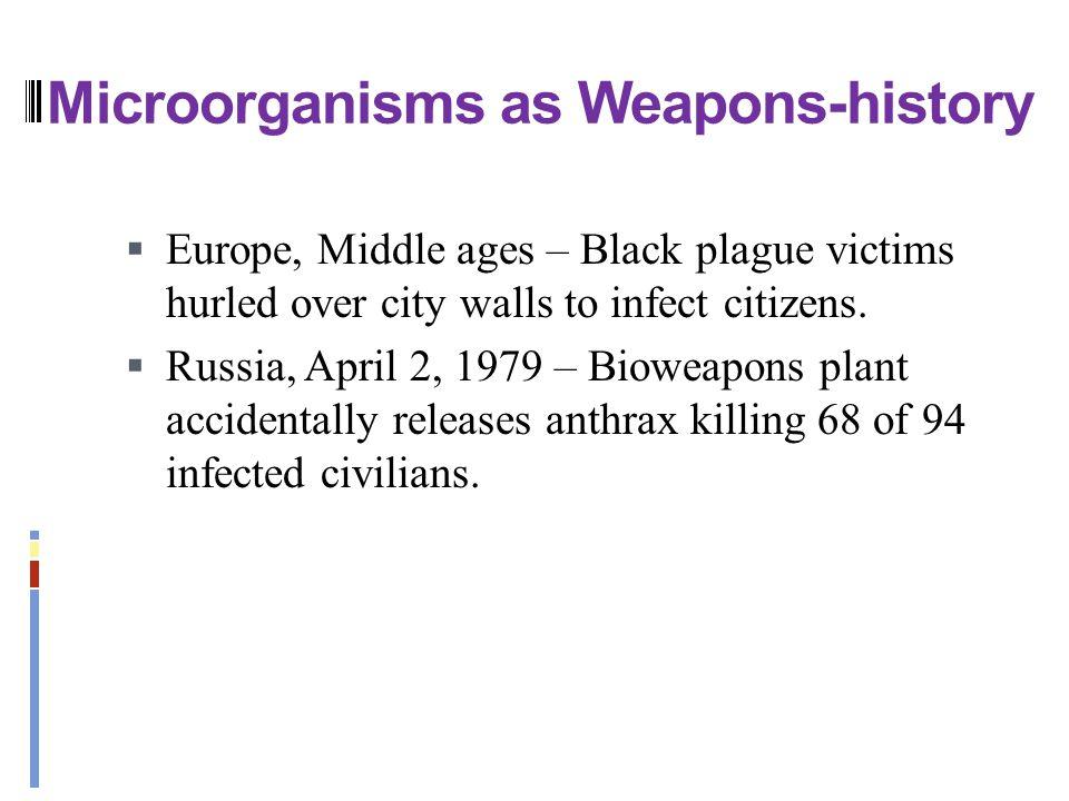 Microorganisms as Weapons-history