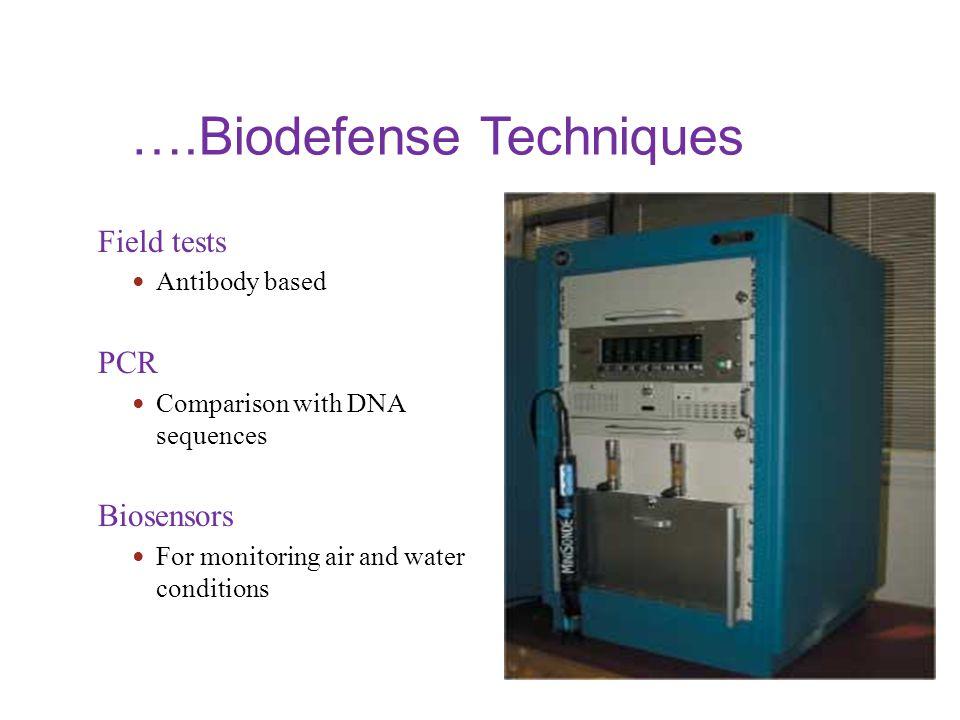 ….Biodefense Techniques