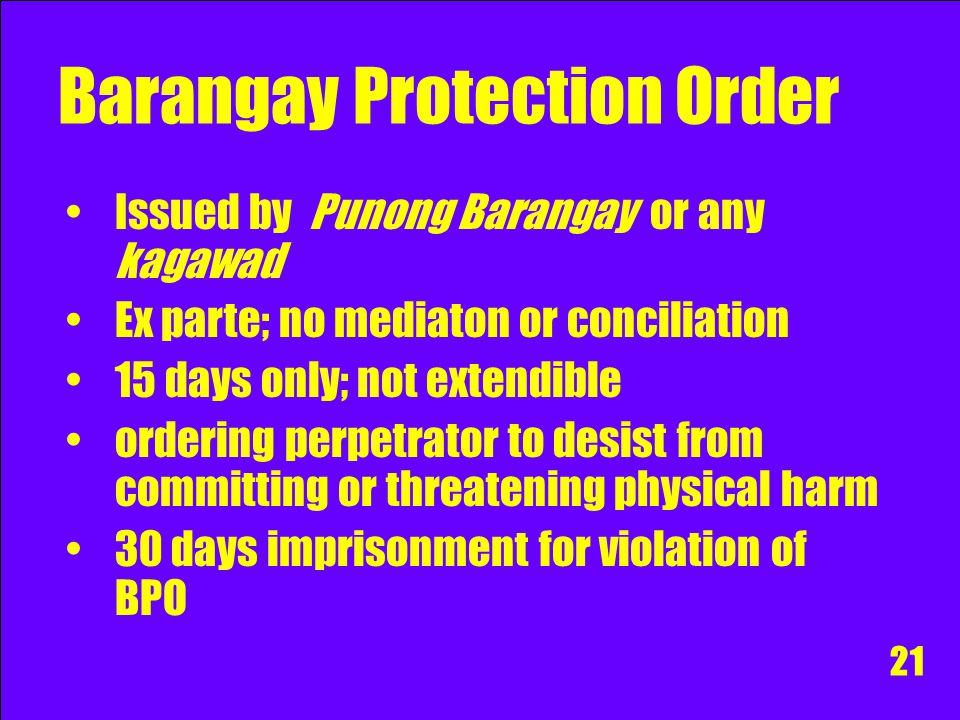 Barangay Protection Order