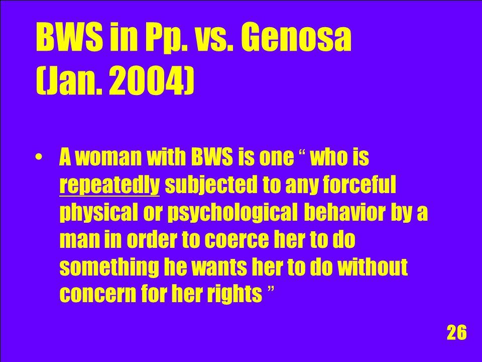 BWS in Pp. vs. Genosa (Jan. 2004)