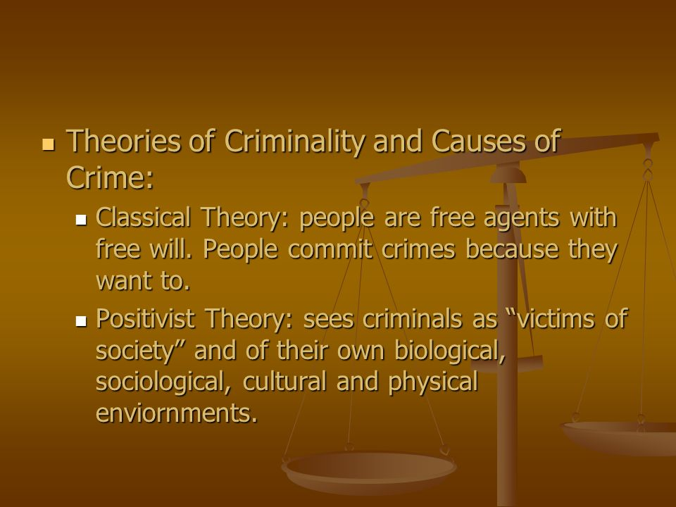 Theories of Criminality and Causes of Crime:
