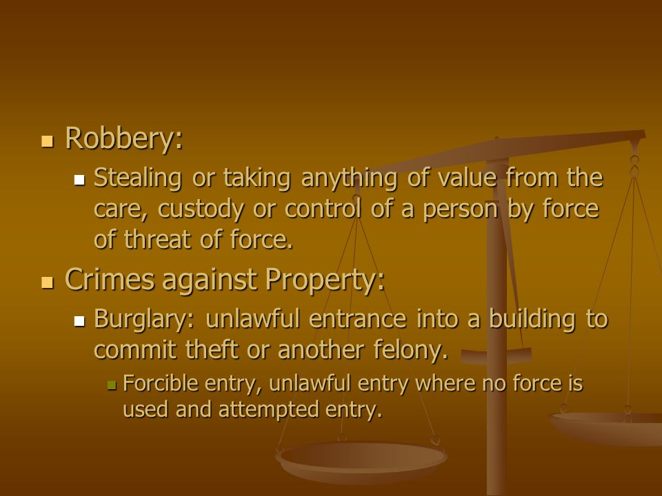 Crimes against Property: