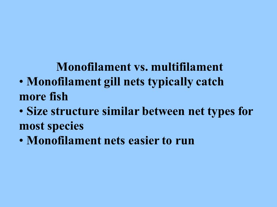 Monofilament vs. multifilament