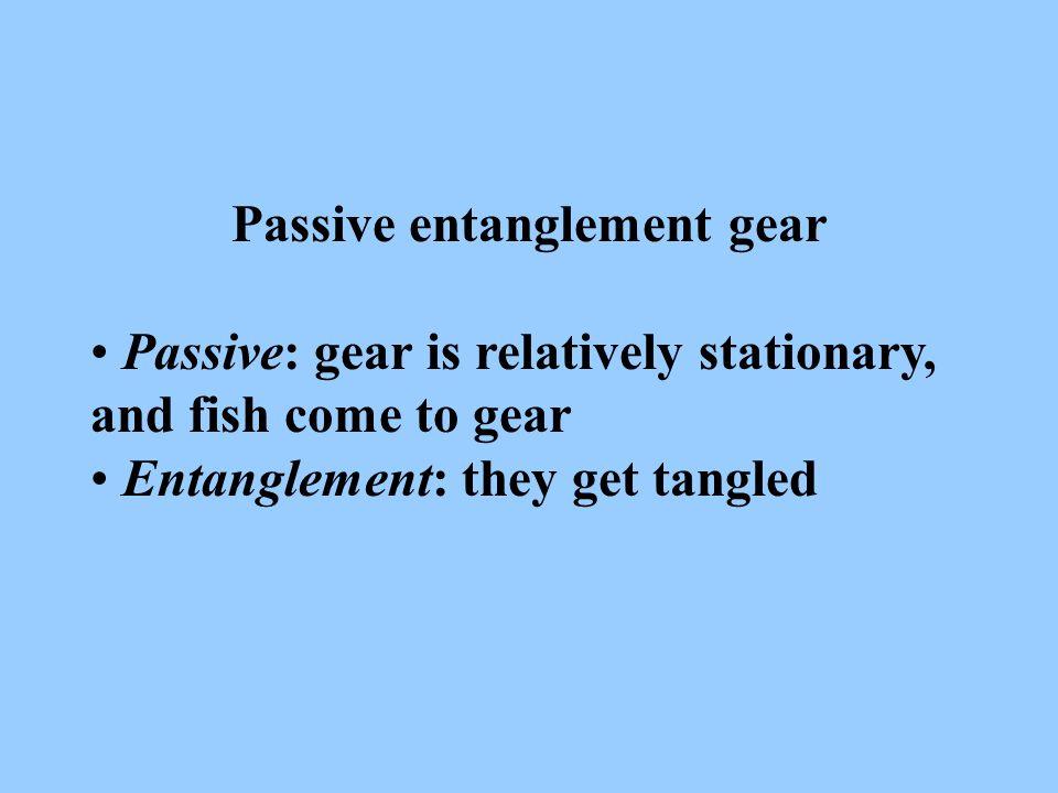 Passive entanglement gear