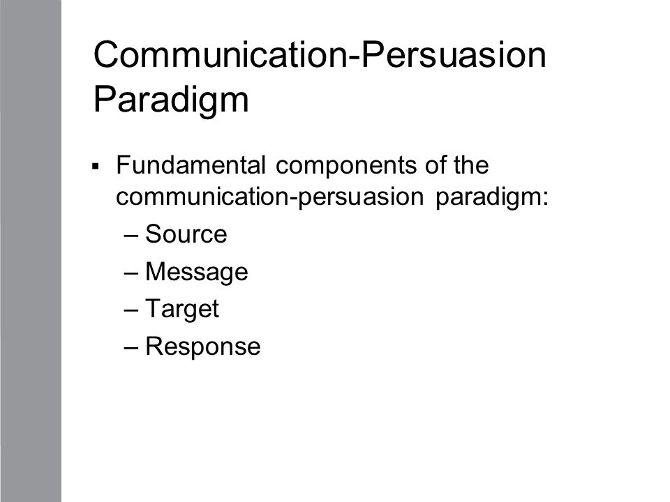 Communication-Persuasion Paradigm