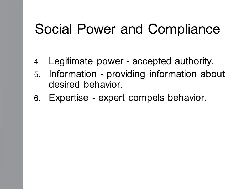 Social Power and Compliance