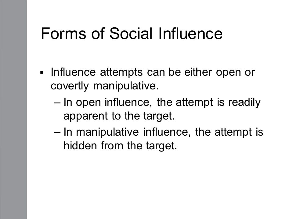 Forms of Social Influence