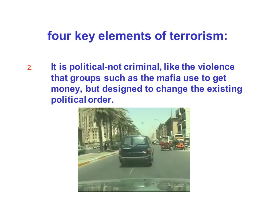 four key elements of terrorism: