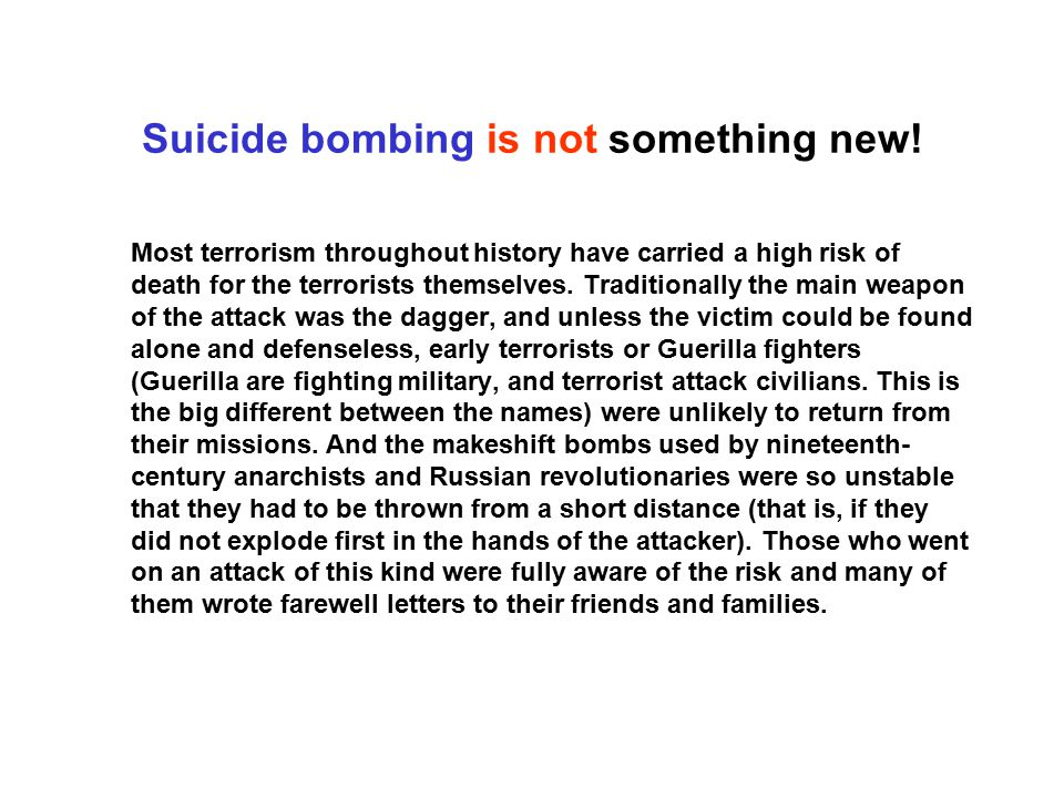 Suicide bombing is not something new!