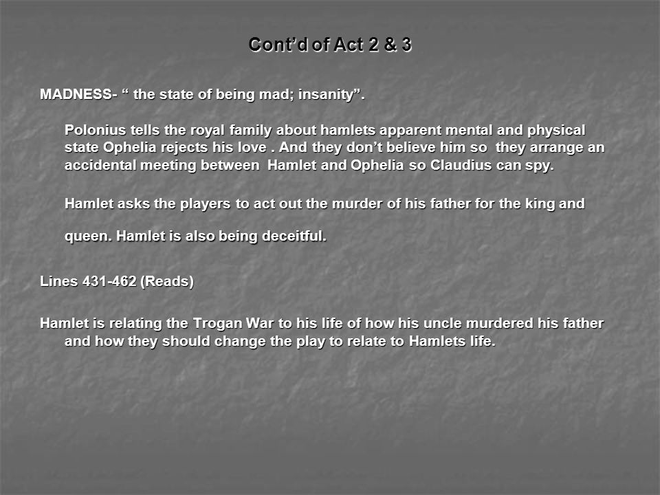 Cont'd of Act 2 & 3
